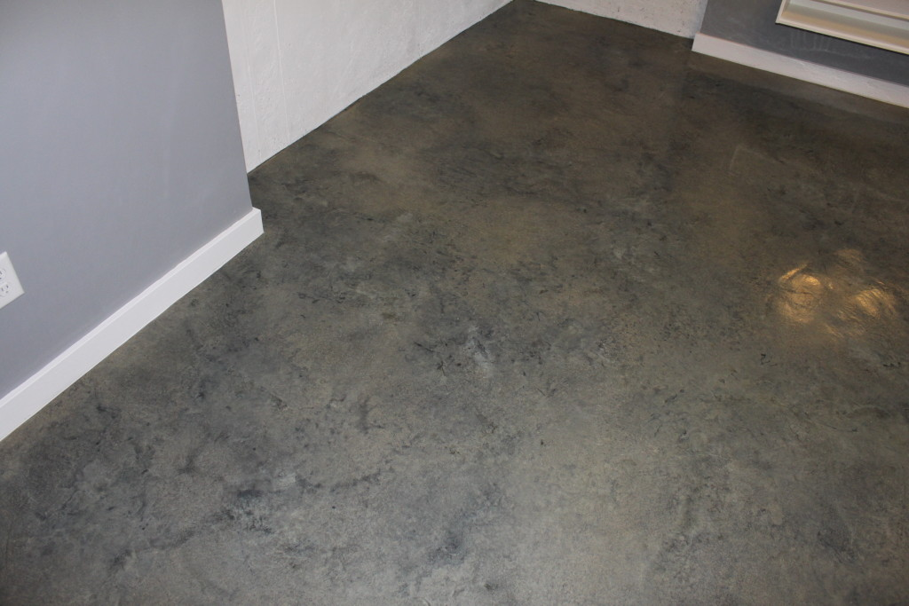 Stained concrete staining concrete how to acid stain for How to degrease concrete floor